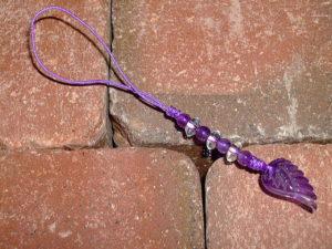 アメジストストラップ 紫水晶ストラップ AMETHYST